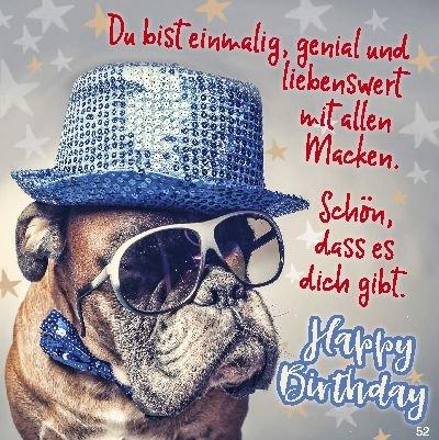 Geburtstagskarte mit Musik 3868-052F Du bist einmalig