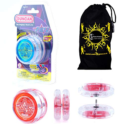 _Duncan Pulse LED yoyo (Blau) Lichtgevende Yo Yo + stof reistas. Grote yoyo voor kinderen en volwassenen. -