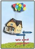 20 x Umzugskarte Postkarten Umzug neue adresse Postkarte Benachrichtigung