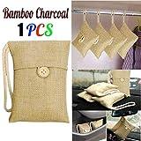 TAOtTAO Bamboo Charcoal Bag 1 stücke Tasche Auto Bambuskohle Aktivkohle Lufterfrischer Geruch Deodorant Neu (A)