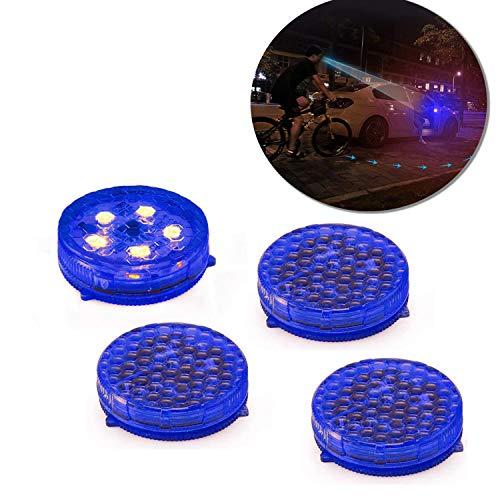 Voupuoda 4 Piezas de luz roja de Advertencia de LED de Puerta de autom/óvil de veh/ículo Abierto Parpadeo de 5 LED Parpadeo