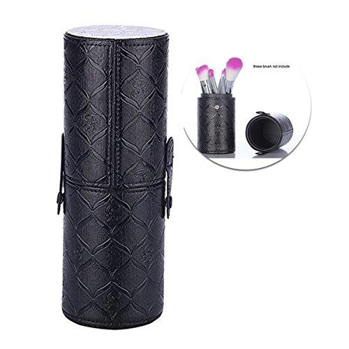 Schminkpinsel Halter Etui Kosmetikpinsel Box Reise Make Up Pinsel Tasche Tragbar Ständer Dose mit Muster für Schreibtisch oder Schminktisch (Schwarz 2)