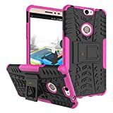 Heartly Coolpad Max A-8 Back Cover Kick Stand Rugged Shockproof Tough Hybrid Armor Dual Layer Bumper Case - Cute Pink