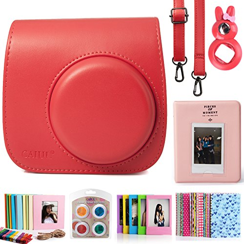 fujifilm-instax-mini-8-instant-camera-accessory-bundles-set-included-red-vintage-instax-mini-8-case-