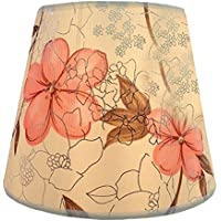 Eastlion semplice manuale moderna paralume in PVC per lampada da tavolo, lampada da parete, lampada da comodino, lampada da terra con E27 lampada titolare Coprilampada 16x25x18cm Pink