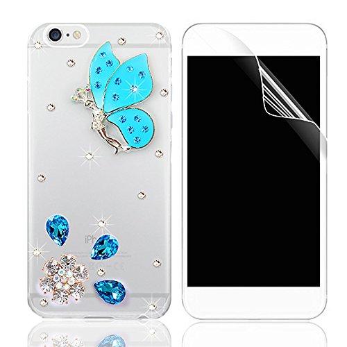 Coque iPhone 7 Plus, iPhone 7 Plus (5.5 pouces) Coque Bling Diamant Strass Transparent Rigide PC 3D Clair Glitter Crystal Etui Housse de Protection Sunroyal® Ultra Mince Légère [Pare-Chocs Anti-Choc]  Pattern 20