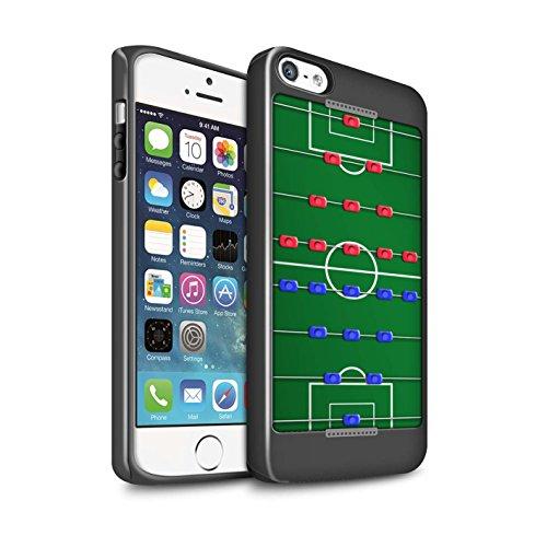 STUFF4 Glanz Harten Stoßfest Hülle / Case für Apple iPhone 5/5S / Darts/Dartpfeile Muster / Spiele Kollektion Tischfußball