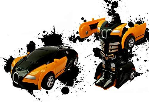 Transformator klein Roboter Auto (Orange)
