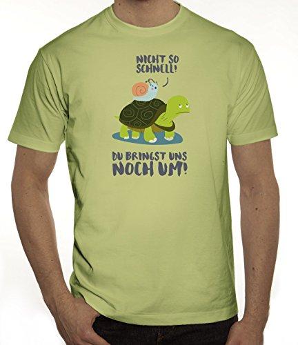 Turtle Herren T-Shirt mit Turbo Schildkröte Motiv von ShirtStreet Limone