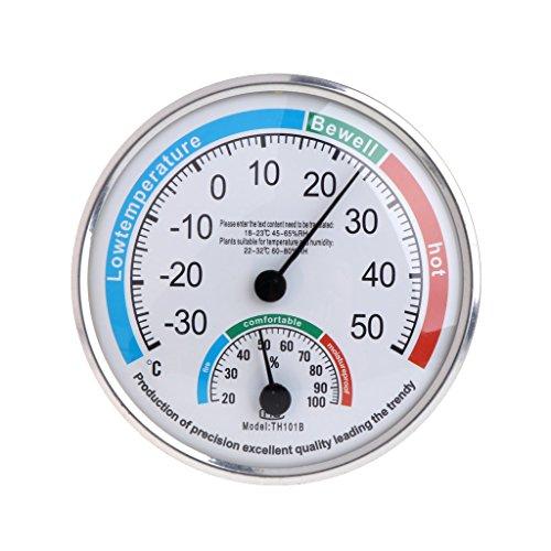 Dchaochao - Termómetro analógico para el hogar, higrómetro, monitor de temperatura y humedad, medidor...