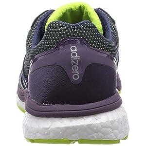adidas Adizero Boston Boost 5 TSF W, Zapatillas para Mujer, Lima/Gris / Morado, 40 2/3 EU