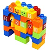 ABODH Learning Educational Building Blocks for Kids with Animal Figures (42 Pcs- Big Size)