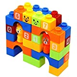 ABODH Learning Educational Building Blocks for Kids with Animal Figures