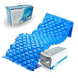 Mobiclinic, Mobi 1, Colchón antiescaras de aire alternante, con motor compresor, PVC médico ignífugo, 200 x 90 x 7, 130 celdas, color Azul