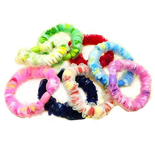 Haargummi Seide (leisial Seide aus Spitze Haar Ring Gummiband grob Punkt Wellenform aus)