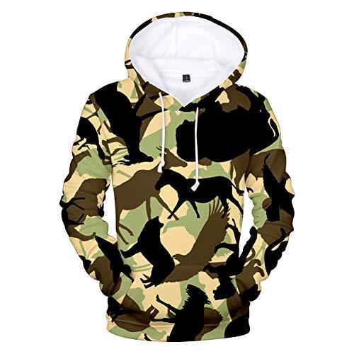 HEYDD Camo 3D Print Hoodies Sweatshirt Männer/Frauen Hoodie Fashion Hoodie Camo Style Freizeit Mantel Camo Kleidung, L -