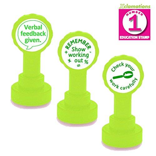 3Stempel-Set, verbal Feedback, überprüfen Ihre Arbeit sorgfältig, Show Your Working Out-Lehrer Markieren Set - überprüfen Briefmarken