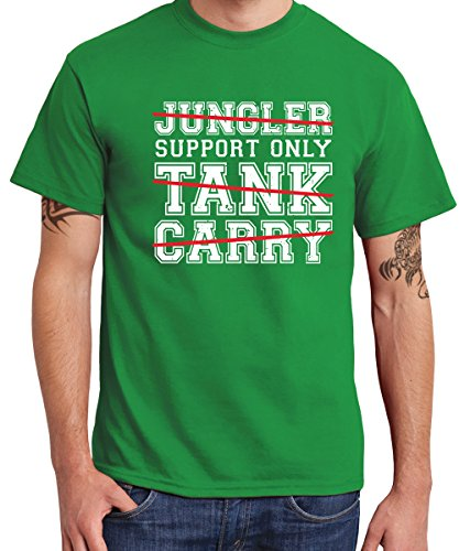 -- Support Only -- Boys T-Shirt Kelly Green