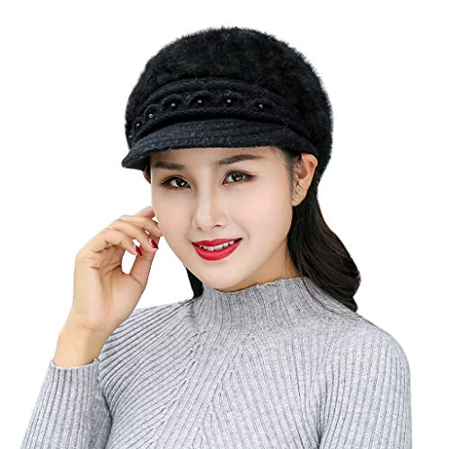 LETTER Luminous Hats, Women Winter Scarf Hats, Hat Woman, Black