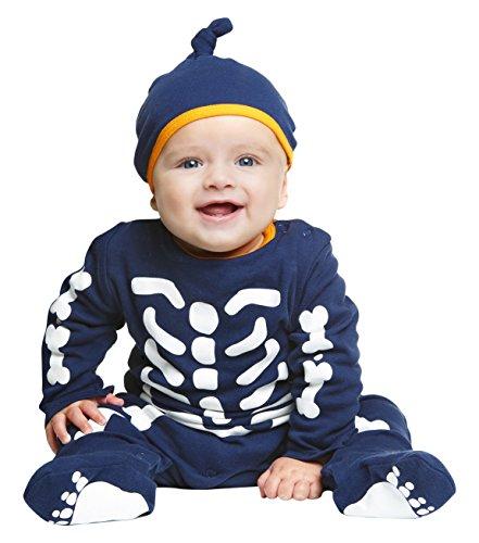 My Other Me Me-203975 Disfraz de esqueleto bebé, unisex, 7-12 meses (Viving Costumes 203975)