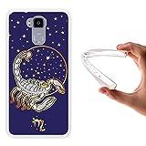 WoowCase Doogee Y6 4G Hülle, Handyhülle Silikon für [ Doogee Y6 4G ] Tierkreiszeichen Skorpion Handytasche Handy Cover Case Schutzhülle Flexible TPU - Transparent