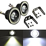 #10: Trest High Power LED Projector Fog Light Cob With (White) Angel Eye Ring Set Of 2 For Maruti Suzuki Zen Estilo
