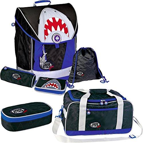 c21f7f78a98bb Spiegelburg Shark Attack 12470 12476 12477 Ergo Style Ranzenset +  Sporttasche + Etui-Box
