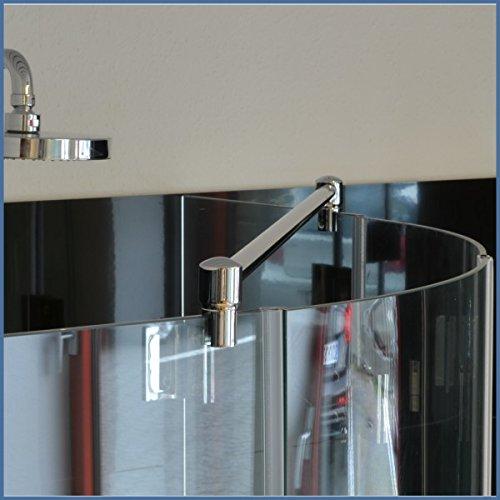 Stabilisierungsstange für Duschen Glas-Glas, Stabilisator Duschwand, Stabilisationsstange Eckdusche, 1000 x 19mm, Chrom