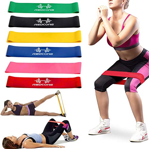 Ivhome 6 Stück/Set Stretch Band, Natur Latex Krafttraining Widerstand Training Schlaufe Bänder für Daheim Sporthalle