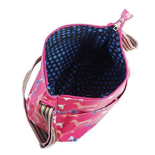 HB Style, Borsa bowling donna Multicolore Multicoloured Pink