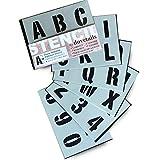 Schablone Alphabet / Zahlen 5 cm MODERN Großbuchstaben auf 6 Blatt 20 x 14.8cm