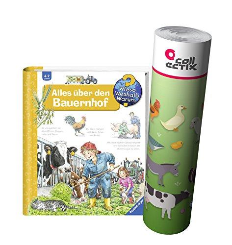 Ravensburger Kinder Sachbuch Wieso? Weshalb? Warum? - Alles über den Bauernhof + Bauernhoftiere Poster by Collectix