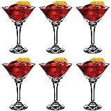 Verres à cocktail/martini - 175 ml - coffret cadeau de 6 verres