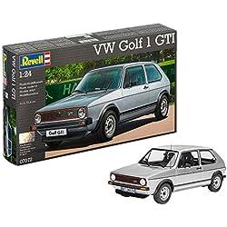 Revell Revell-07072 Volkswagen Maqueta VW Golf 1 GTI, Kit Modelo, Escala 1:24 (07072), Color Plata (