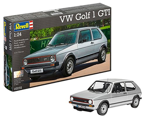 Revell Revell-07072 Volkswagen Maqueta VW Golf 1 GTI, Kit Modelo, Escala 1:24 (07072), Color Plata