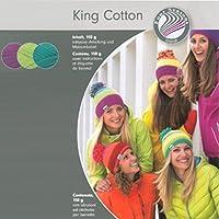Grundl King - Kit per cappello in cotone all'uncinetto viola/ Lime/ verde