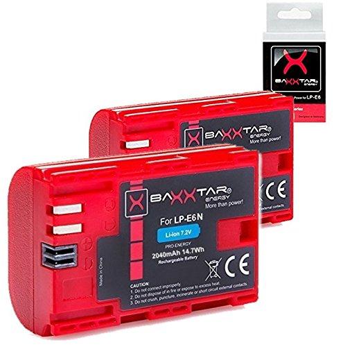 Baxxtar PRO batería para Canon LP-E6N (2040mAh auténtico)