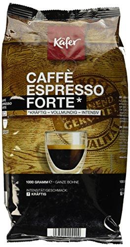 Käfer Espresso Forte, ganze Bohne, 1.000 g, 1er Pack (1 x 1 kg)