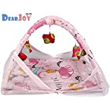 DearJoy Newborn Baby Bedding Set With Mosquito Net And Baby Play Gym (Pink Princess Print)