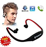 #7: Wireless Bluetooth On-ear Sports Headset Headphones with Micro Sd Card Slot and FM Radio with free stainless steel egg mould inside gift..