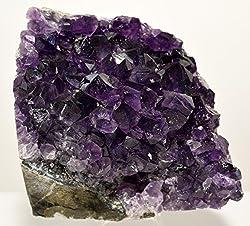 "3.1"" Amethyst Crystal Cluster Purple Natural Druzy Crystal Extra Grade Quartz Geode Mineral Gemstone Specimen - Uruguay"