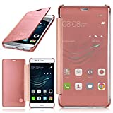 moex Huawei P9 Lite | Hülle Transparent TPU Void Cover Dünne Schutzhülle Rosé-Gold Handyhülle für Huawei P9 Lite / G9 / G9 Lite Case Ultra-Slim Handy-Tasche mit Sicht-Fenster
