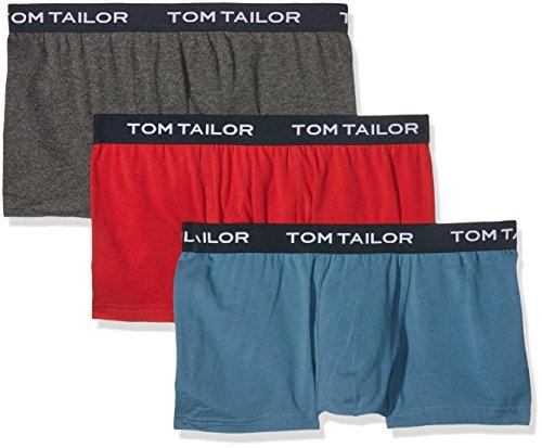 TOM TAILOR Herren Retroshorts, 3er Pack Blau (red-melange-blue 2314)