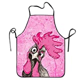 sdfgsdhffer New Bibs Chef Aprons Adjustable Women Plus Size Adult Housewife Home Commercial Apron Chicken Illustration...