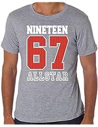 50th Birthday Gift T-Shirt 1967 ALLSTAR Mens American Football Style T-shirt