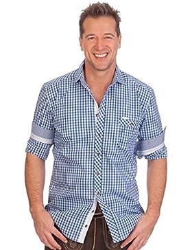 H1610 - Trachtenhemd mit langem Arm - BERRY - dunkelblau