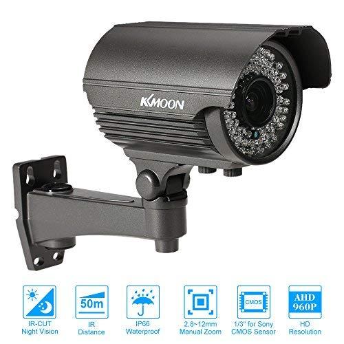 KKmoon Kugel CCTV Kamera Analoge 960P AHD 2,8 ~ 12mm Manuelle Zoom Varifokale Linse 1/3 Zoll für Sony CMOS 1.3MP IR-CUT 72 IR LED Nachtsicht Wetterfeste Indoor Outdoor Sicherheit PAL System