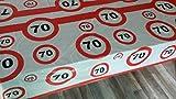 70 igster Geburtstag-Feier-abwaschbare Party-Feier-Tisch-Decke-Deko-Idee vom Sachsen Versand