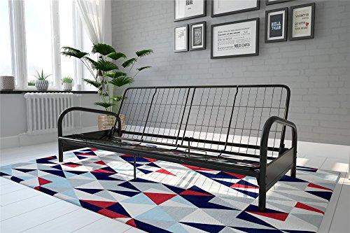 Schwarz Metall-futon-rahmen (DHP Vermont Futonrahmen aus Metall Futon-Rahmen Full schwarz)