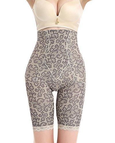 Donna contenitivo alta vita shapewear controllo corsetto snellente mutandine intimo lace body shaper mutande come immagine xl